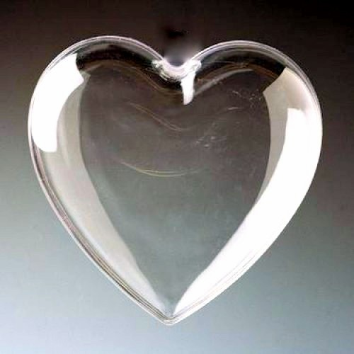2-Part Clear Plastic Hearts