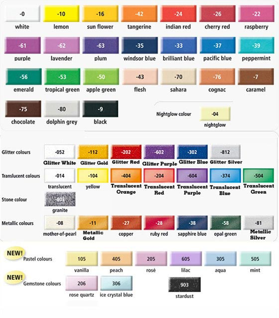 Fimo Colour Chart