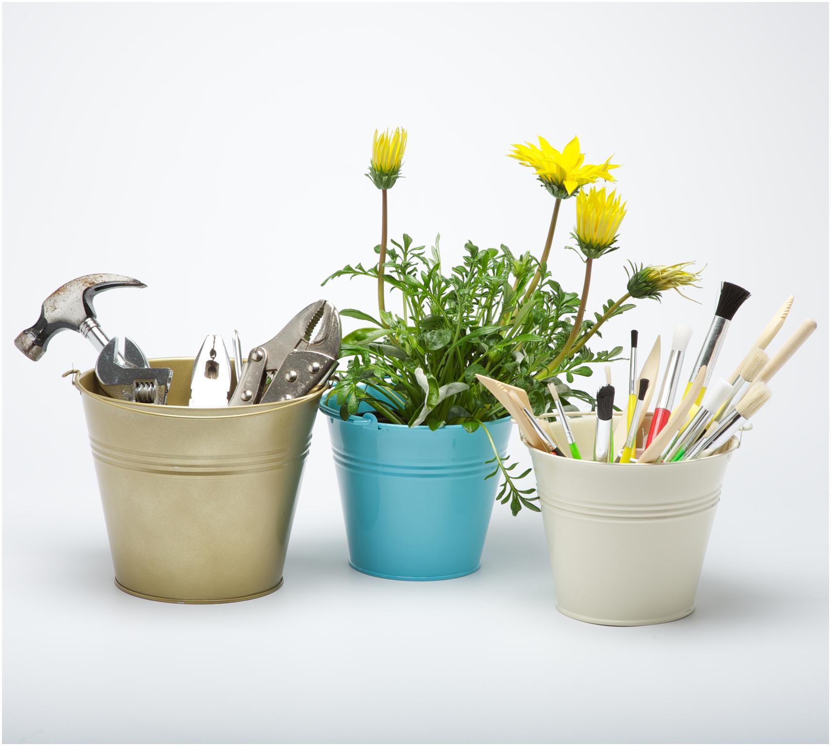 Mini flower pots wedding favors for Small pail buckets