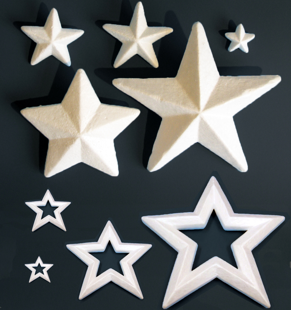 Polystyrene Stars