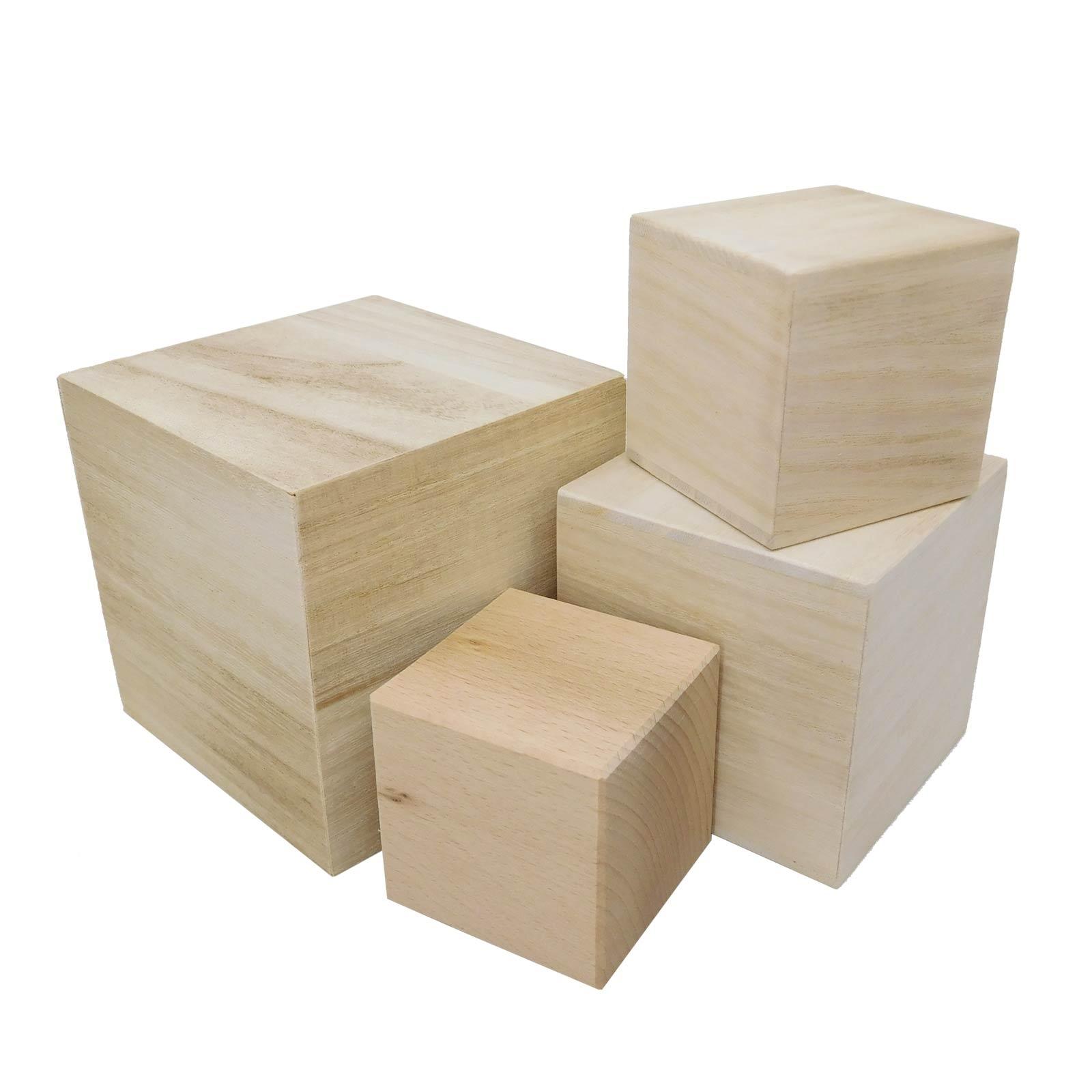 Plain Wooden Blanks, Cubes, Building Blocks