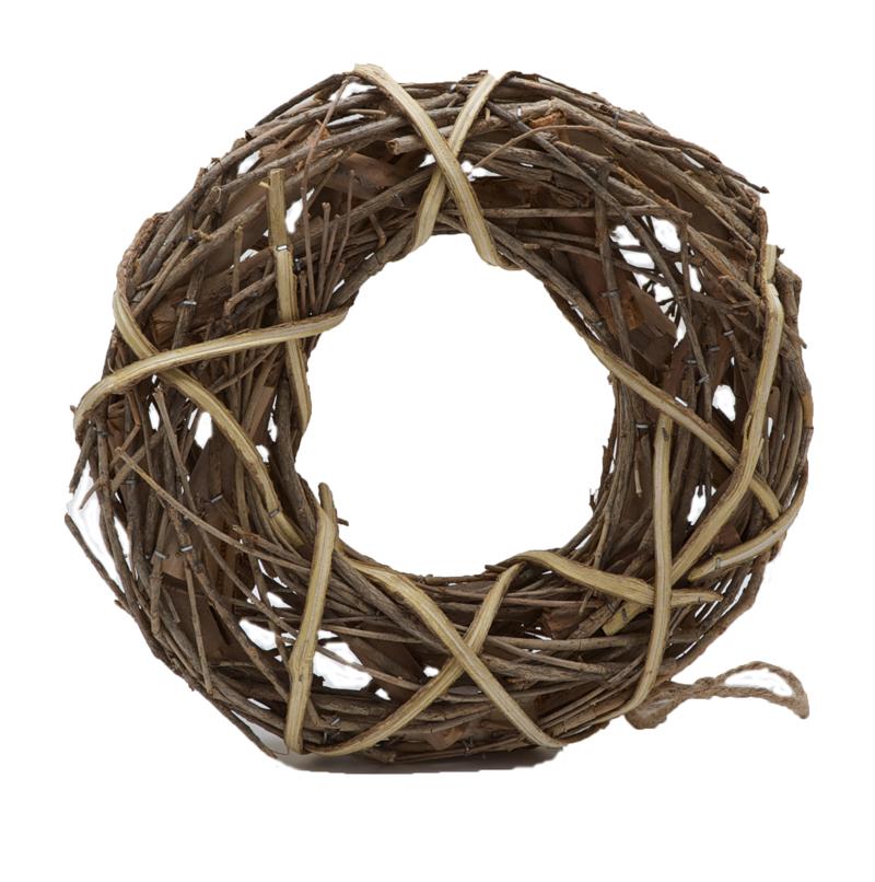 Wicker and Wood Wreaths Rings Garlands