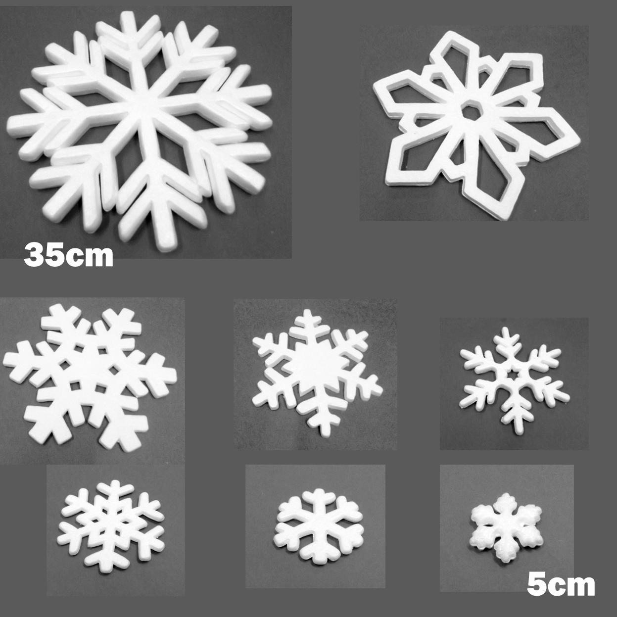 Polystyrene Snowflakes