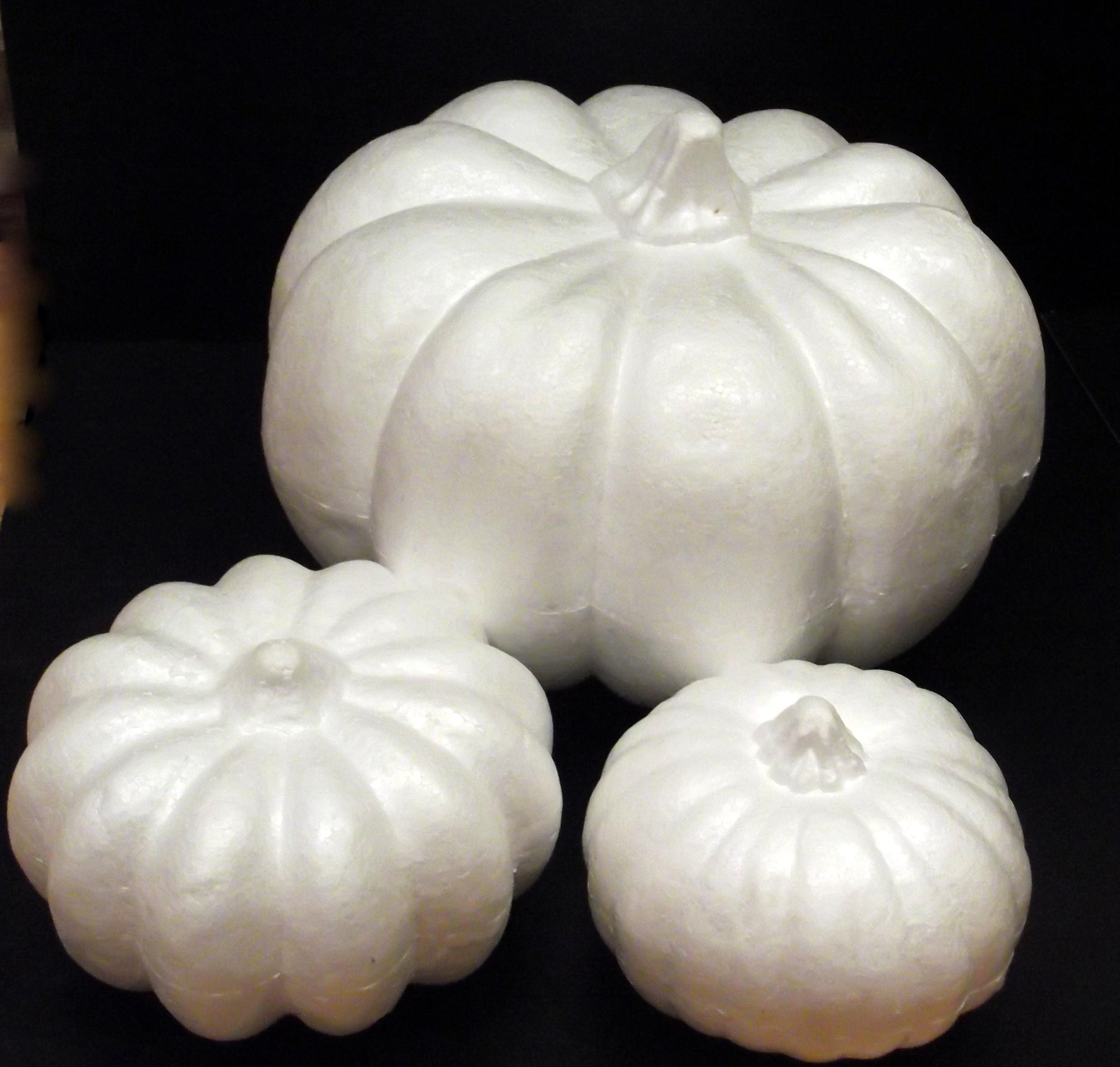 Polystyrene & Papier Mache Pumpkins