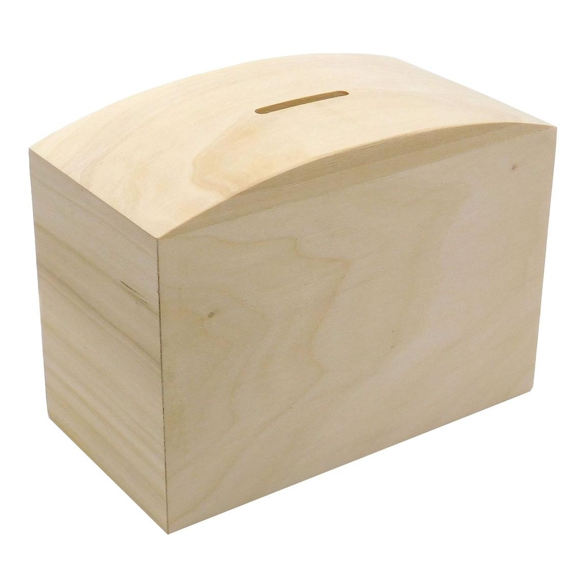 Plain Wooden Money Boxes