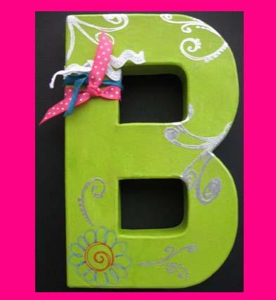 3-D Papier Mache Cardboard Letters