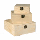Plain Wooden Storage Boxes