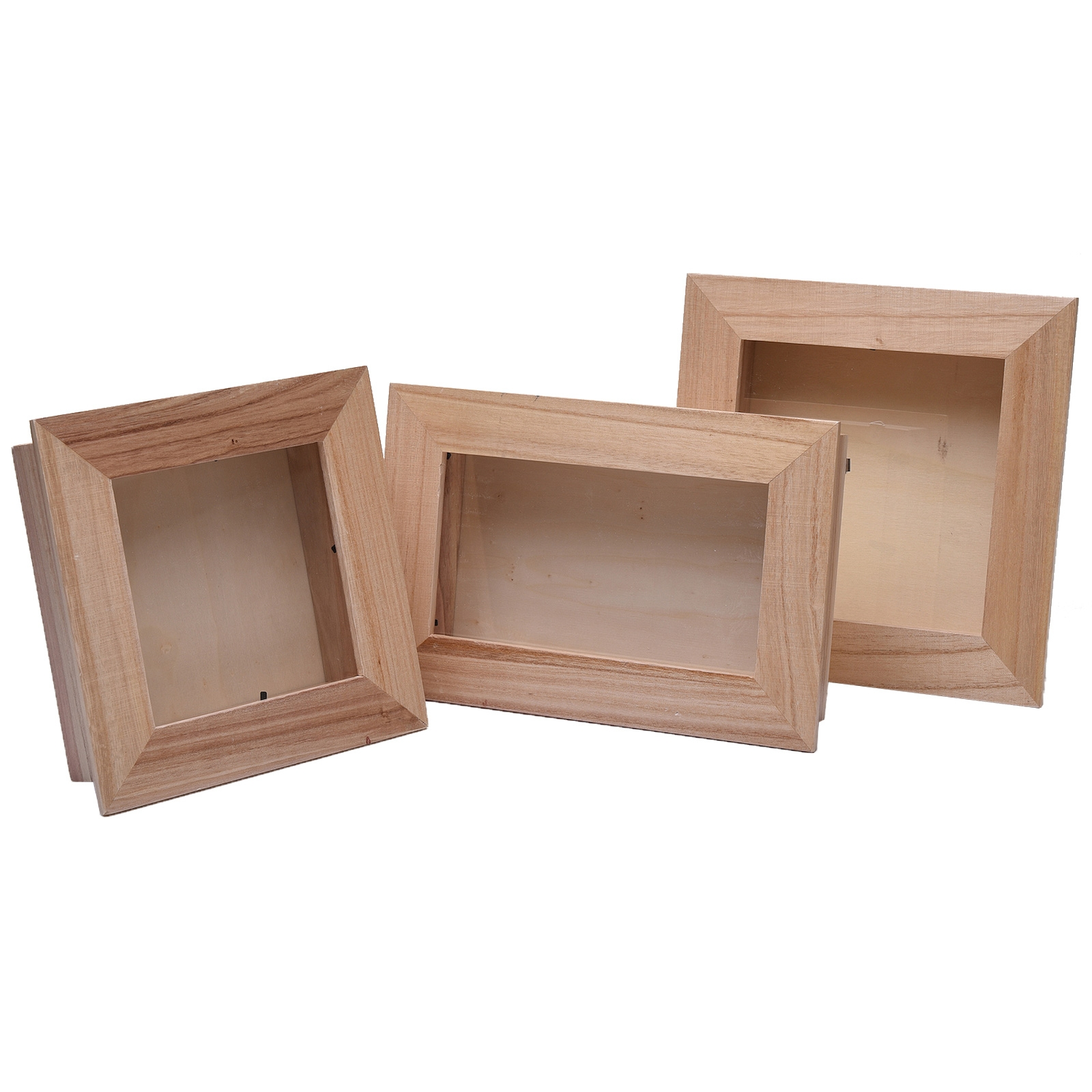 3D Wooden shadow boxes & box frames