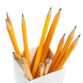 Plain Pencil Holder Desk Tidies