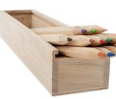 Plain wooden pencil & brush cases