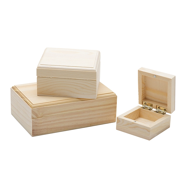 Square & Rectangular wooden boxes