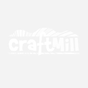 Set of 6 Natural Plain Round Empress Wood Coasters / Drink Mats with Holder