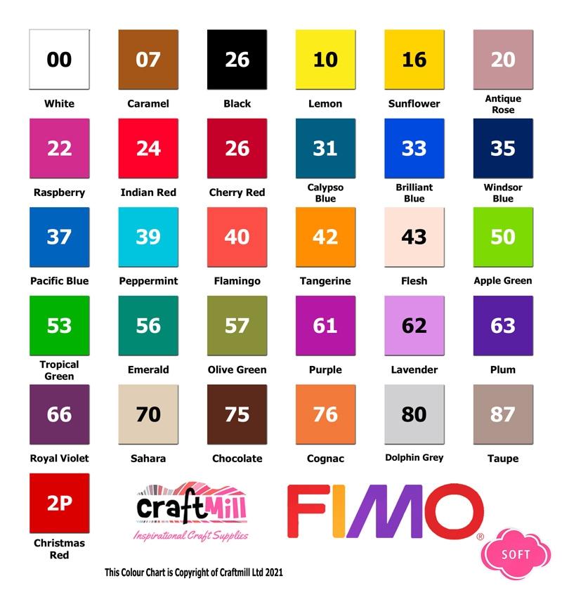 Fimo Soft Colour Chart